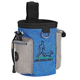 Puppy Pet Dog Obedience Training Treat Feed Bait Food Snack Pouch Belt Bags(Royal Blue)