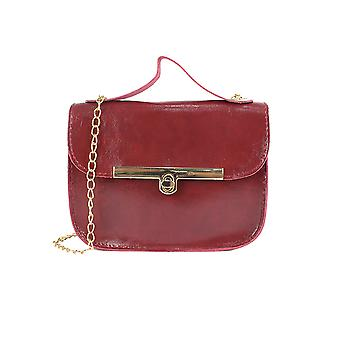 Square Flap Bag With Linear Lock