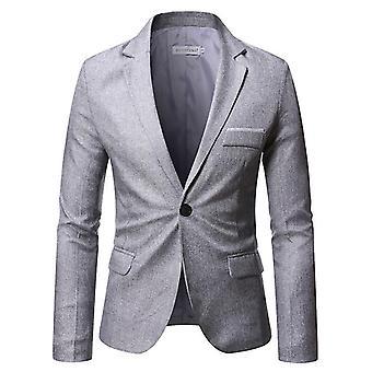 Miesten puku takki yksi painike Slim Fit Sport Coat Business Päivittäin (S)