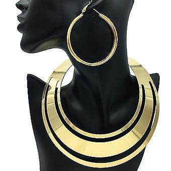 Women Necklace Set Exaggerated Metal Choker Big Brand Collar Women Necklace For Festival