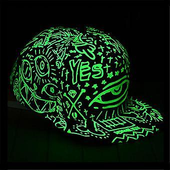 Mode Licht in dunkler Nacht Leuchtendes Leuchten Snapback Baseball Hip-Hop Cap Hut