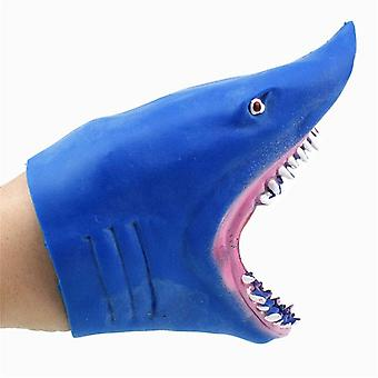 Over 3 Years Kids TPR Animal Plastic Shark Hand Puppel Head Figure Kids Toy Model Gifts