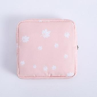 1Pc mini waterproof flannel storage bag coin credit card cosmetics cotton strips business trip travel