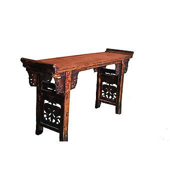 Fin Asianliving Antikk Kinesisk Alterbord Håndskåret W182xD46xH96cm