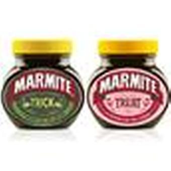 Marmite Spread Halloween Geschenk, Trick und Treat Personalisiertes Glas - Packung mit 2 x 1 x 250g