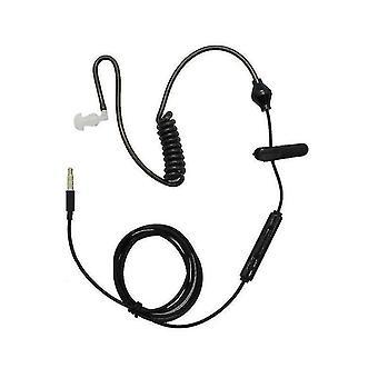 Casque de téléphone mobile à l'épreuve des radiations de 3,5 mm Dans l'oreille Casque unilatéral de conduction aérienne All black Unilat