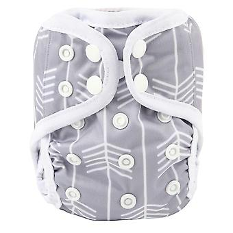 Newborn Baby Cloth Diaper Cover Nappy, Adjustable Waterproof Double Gusset