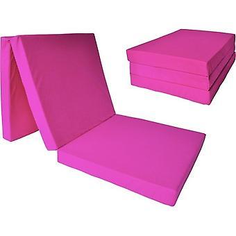 Materasso per bambini - rosa - materasso da campeggio - materasso da viaggio - materasso pieghevole - 120 x 60 x 6