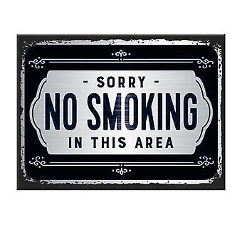 Fridge Magnet Sorry No Smoking In This Area   Cracker Filler Gift