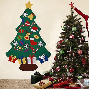 DIY Filz Weihnachtsbaum mit abnehmbaren Ornamenten Hängende Dekor für Kinder