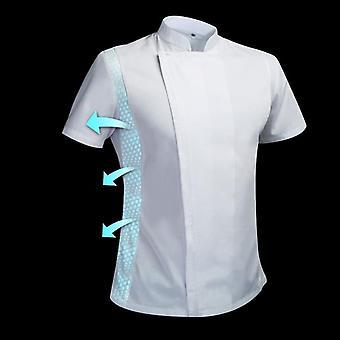 Summer Chef Costume Cook Jacket Male Chef's White Shirt Restaurant Uniform