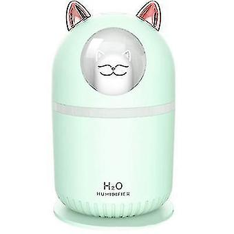 Humidifiers 300ml usb mini humidifier  silent air sprayer for office bedroom green green