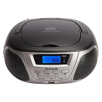 Radios bbtu-300 grey am/fm mp3/usb portable cd radio with bluetooth