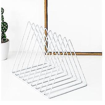 Scandinavische stijl minimalistische 5 slot magazine of bestand opslag rack (Wit)