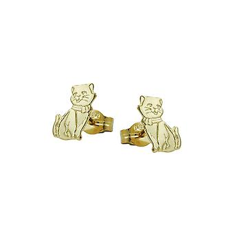 Stud Earrings Cats Partly Matte-finished 8k Gold 42787 42787 42787