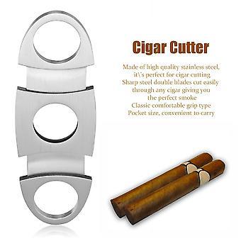 Tasche Edelstahl Doppelklinge Zigarrenschneider Messer Schere Schere