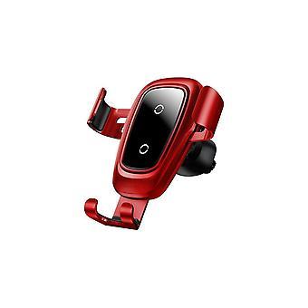 Baseus Metall Glas 10w Qi Wireless Ladegerät Schnelles Laden Schwerkraft Gestänge Automatische Sperre Air Vent Auto Telefonhalter für 4,0 Zoll - 6,5 Zoll Smart Phon
