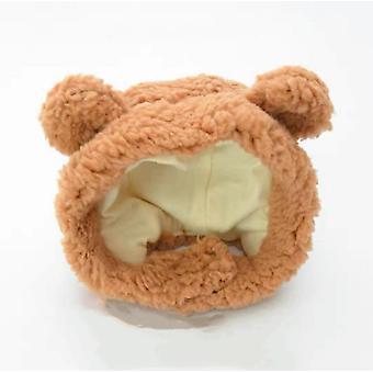 Pet Cap, Bear Plush Headwear
