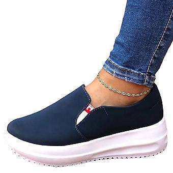 Women Platform Pumps Trainers Slip On Sneaker Shoes