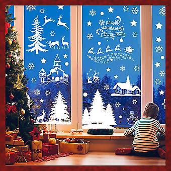 Jul Xmas klistremerke vindu klistremerker art dekaler vegg hjem butikk dekor