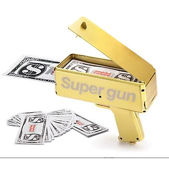 Money Gun Paper Playing Spary Money Toy Gun Prop Money Gun