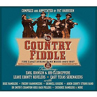 Country Fiddle-Early String Band Music 1 - Country Fiddle-Early String Band Music 1 [CD] USA import