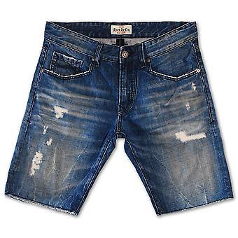 Klinke De Cru Crown blå dongeri Shorts