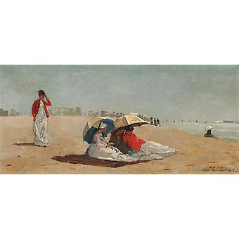 Winslow Homer - East Hampton Beach Long Island Poster Print Giclee