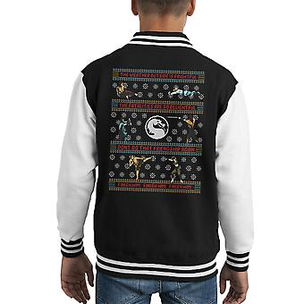 Mortal Kombat finis-le Varsity Jacket de Noël tricot Kid