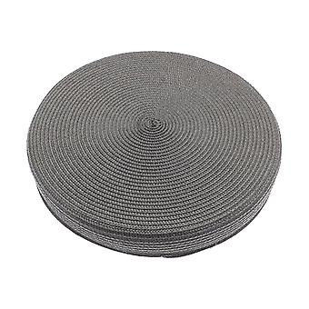 Alfresco Woven Circular Seat Pad, Charcoal Grey