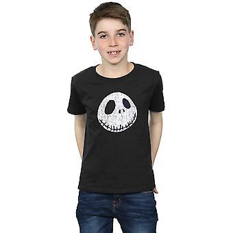 Disney chłopców koszmar przed Boże Narodzenie Jack pęknięty twarz T-Shirt
