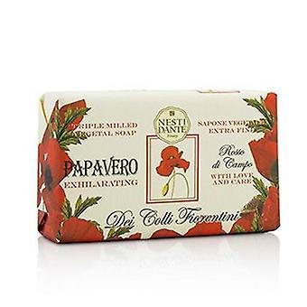 Nesti Dante Dei Colli Fiorentini Triple Milled Vegetal Soap - Poppy - 250g/8.8oz