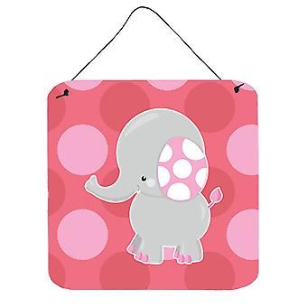 Elephant Big Polkadots Wall or Door Hanging Prints
