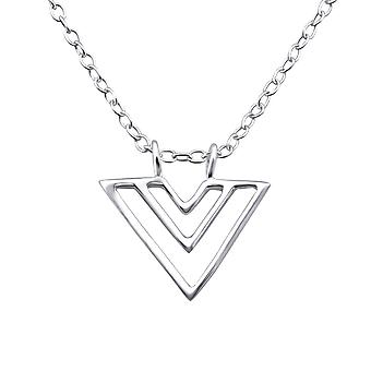 Triangle - 925 Sterling Silver Plain Necklaces - W25828x