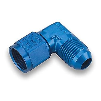 Earl's 921110ERL Blue Anodized Aluminum 90-Degree -10 AN Male to -10 AN Female Swivel Adapter