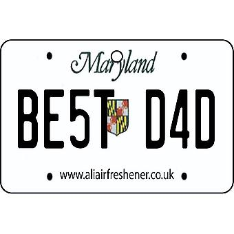 Maryland - Best Dad License Plate Car Air Freshener
