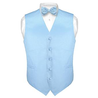 Gilet robe masculine & BOWTie tissé noeud papillon bande horizontale Design Set