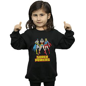 DC Comics Girls Wonder Woman Super Power Group Sweatshirt