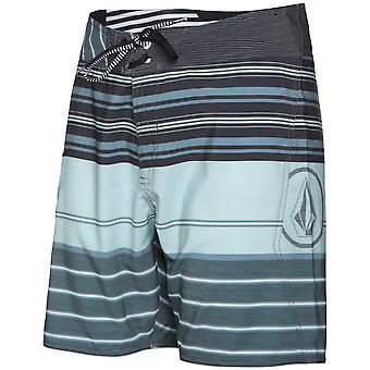 Volcom Lido Liner Mid Length Board Shorts in Storm