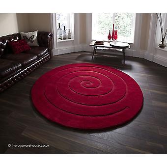 Spiral Teppich rot