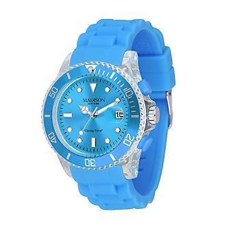 Candy tijd door Madison N.Y.. horloge unisex U4399-06-1 licht blauw