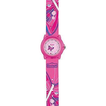 Scout gyerekek Watch learning Clock Crystal-Pink Girl 280305029