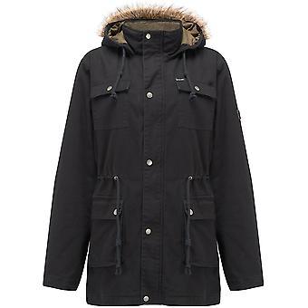 Animal Jamo Parka Jacket in Black