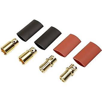 بكرة 1373195 البطارية المكونات 8 ملم الذهب مطلي 2 زوج