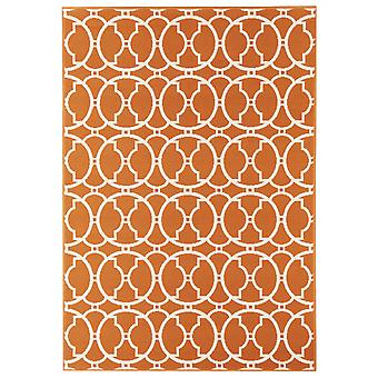 In - and outdoor carpet balcony / living room vitaminic orange nature 133 x 190 cm