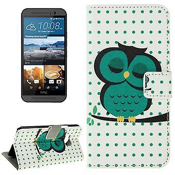 Mobiltelefon case fodral för mobil HTC en M9 stor Uggla på gren