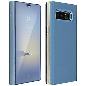 Flip Case, Mirror Case for Samsung Galaxy Note 8, Standing Cover - Blue