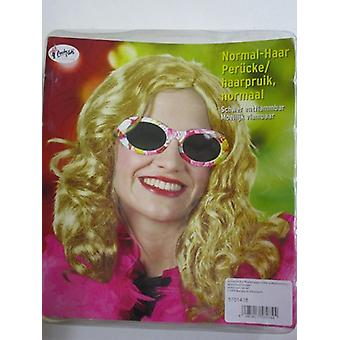 Ladies wig blond easy accessory lured Carnival Halloween