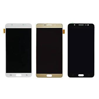 Kamaa certified® Samsung Galaxy J7 2016 näyttö (kosketusnäyttö + AMOLED + osat) AAA + laatu - musta / valkoinen / kulta