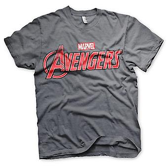 The Avengers Marvel T-Shirt Distressed Logo